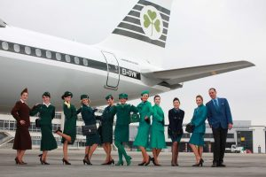 Aer Lingus' uniforms from 1945 to 1998.