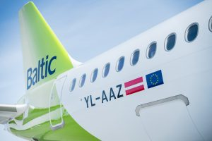 AirBaltic YL-AAZ side profile from right