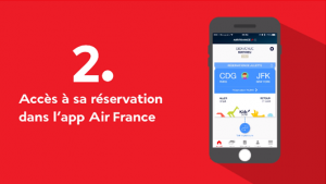 Air France app to track your child: Access your reservation in the Air France App