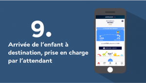 Air France App: The Child arrives at their destination, looked after by the attendant