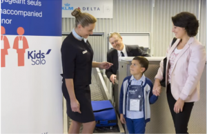 Kids' Solo at Air France Check-in desk