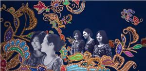 The Singapore Girl/s amid the signature Batik motif