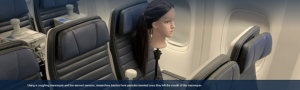 Cough dummy on board a United Airline