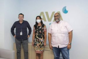 The Ambassador Of Argentina Visits Ava Airways In 2020 To Discuss Economic Opportunities Between The Caribbean And Argentina. Image By Ava Airways.