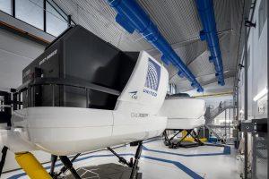 United's flight simulator