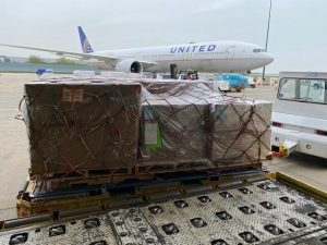 Ventilators ready to be shipped over to India by UA