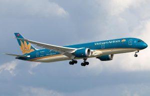 A Vietnam Airline Airplane
