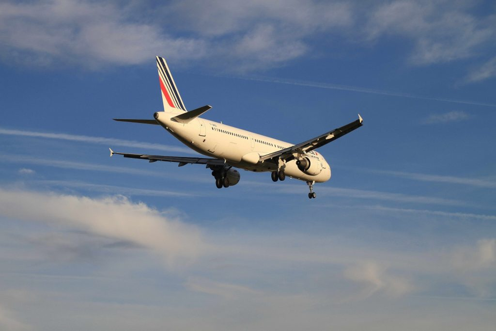 Air France A321 moments before landing