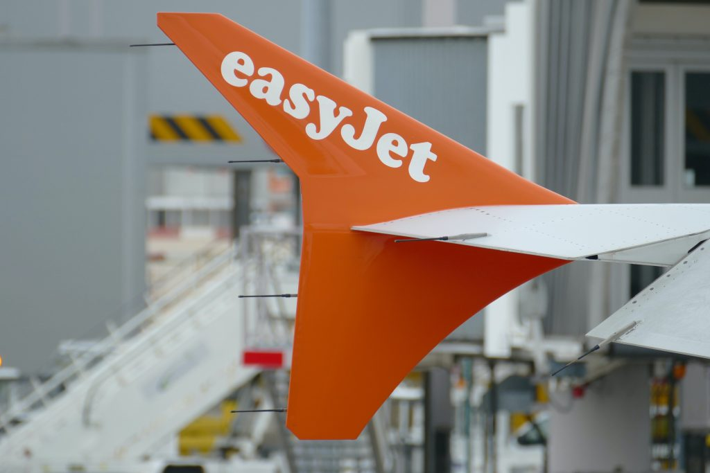 Detail of an Easyjet Airbus