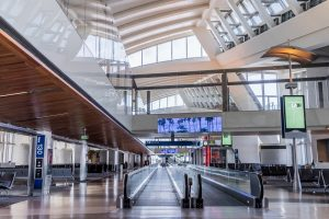 Inside the Tom Bradley International Airport in Los Angeles