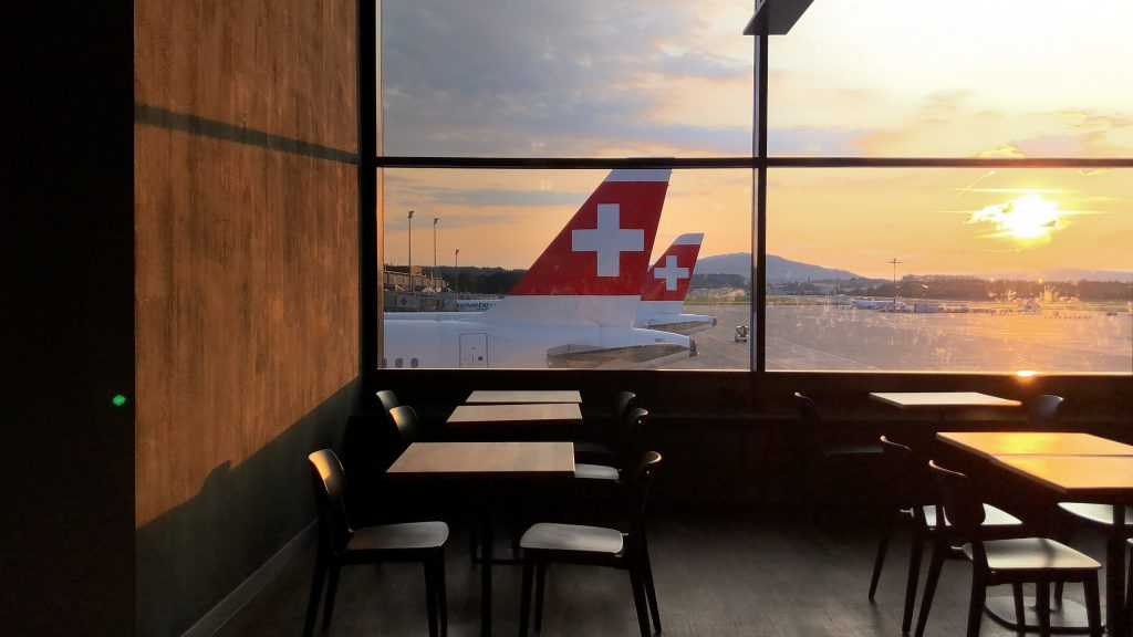 SWISS tails at Zurich Airport. Photo by Jett Pongsakon