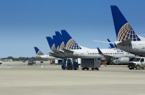 United Airline planes on the tarmac