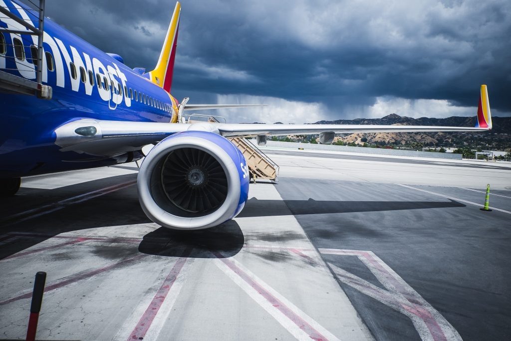 Southwest plane at stand. Photo by Owen Lystrup