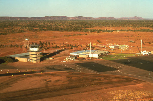 Alice Springs airport in 1975