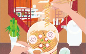 The Cup Noodle Illustration