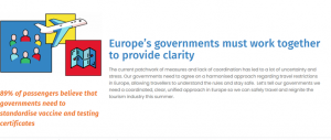 time to reconnect Europe a call from IATA to governments