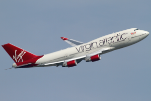 Virgin Atlantic B747 taking off. Photo by Konstantin von Wedelstaedt