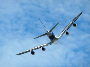 a380 in the sky