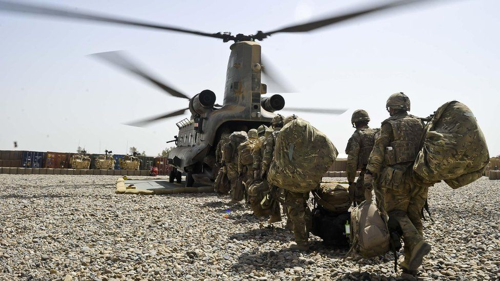 Showing British Forces leaving for Afghanistan