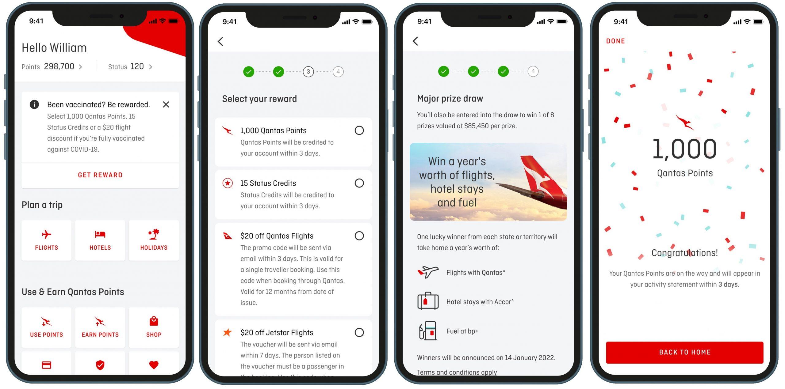 Image is to show the new Qantas reward scheme