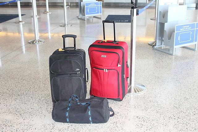 Showing luggage