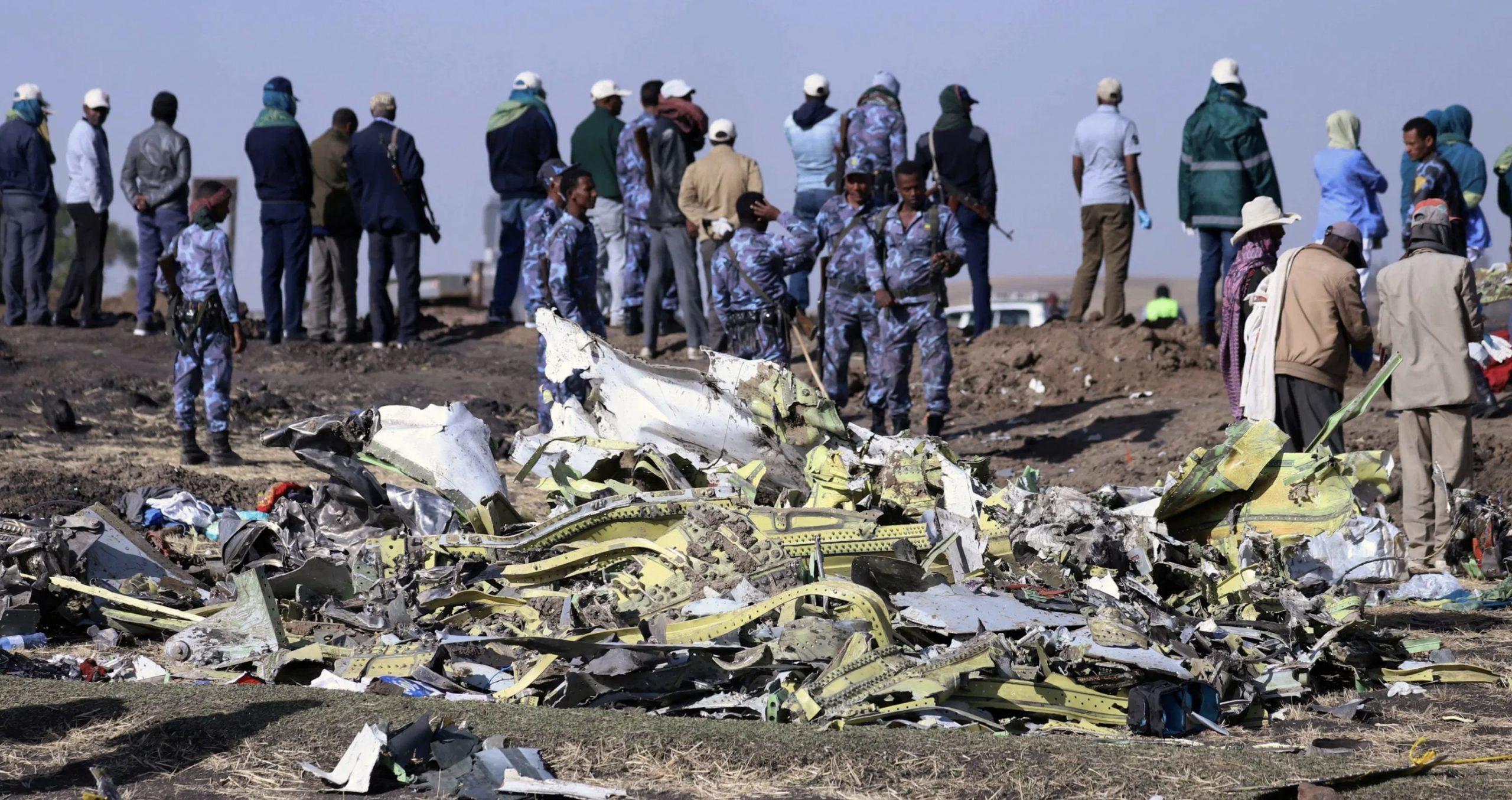 Boeing Max 737 Crash Rubble