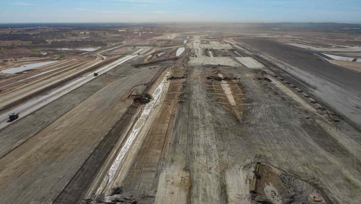 Earthworks finished earlier this year meaning the runway is ready to built in 2022