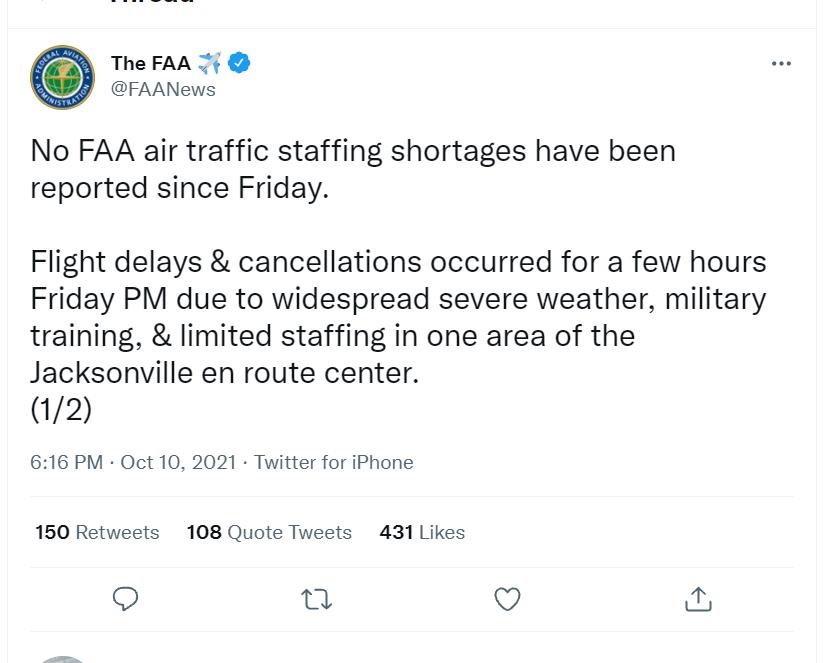 FAA, Flight delays & cancellations