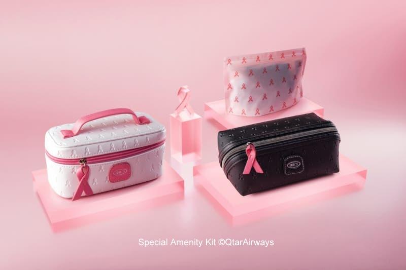 Special amenity kit provided by Qatar Airways