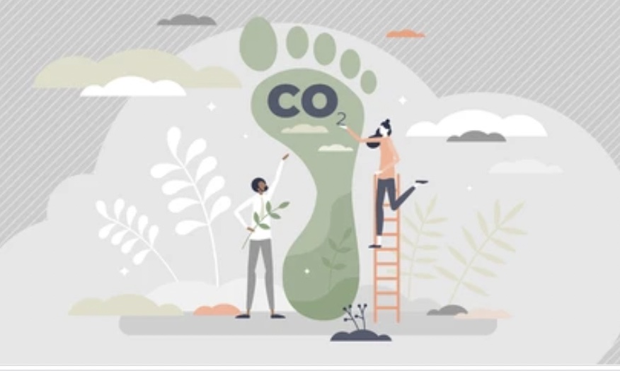 showing CO2 carbon footprint