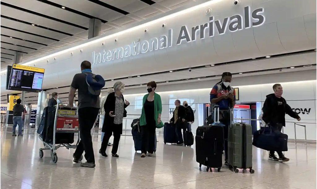 Showing passengers at International Arrivals